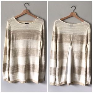 Calvin Klein Women's Chiffon Back Sweater White S